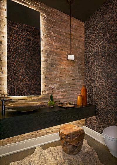 Contemporary Powder Room by AMW Design Studio