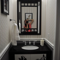eclectic powder room pwdrm