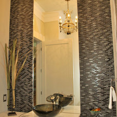 Tropical Powder Room by Crosby Creations Drafting & Design Services, LLC