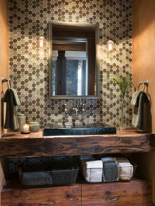 Rustic Powder Room Design Ideas Remodels Photos