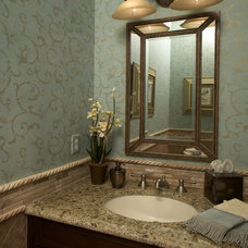 Traditional Powder Room by Lendry Homes