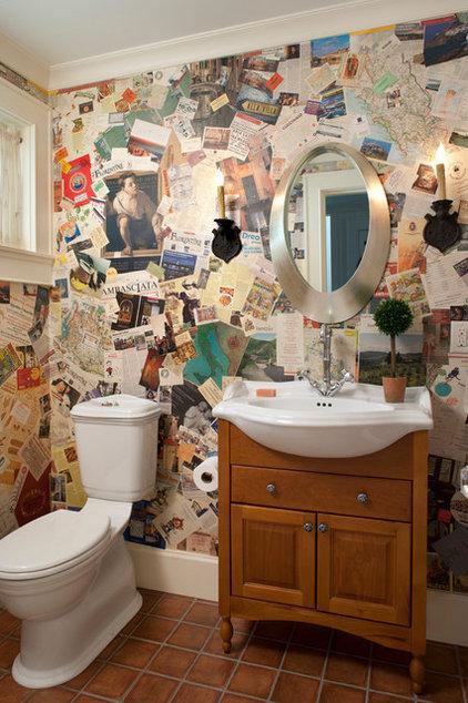 Traditional Powder Room by Kathryn Long, ASID