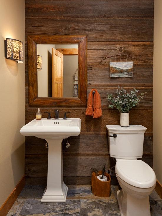 Top 30 Small Farmhouse Powder Room Ideas & Decoration ...