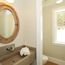 Contemporary Powder Room by Core Development Group, Inc.