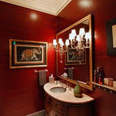 Eclectic Powder Room by David Brandsen Construction Inc.