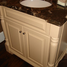 Traditional Powder Room by Hardwood Creations