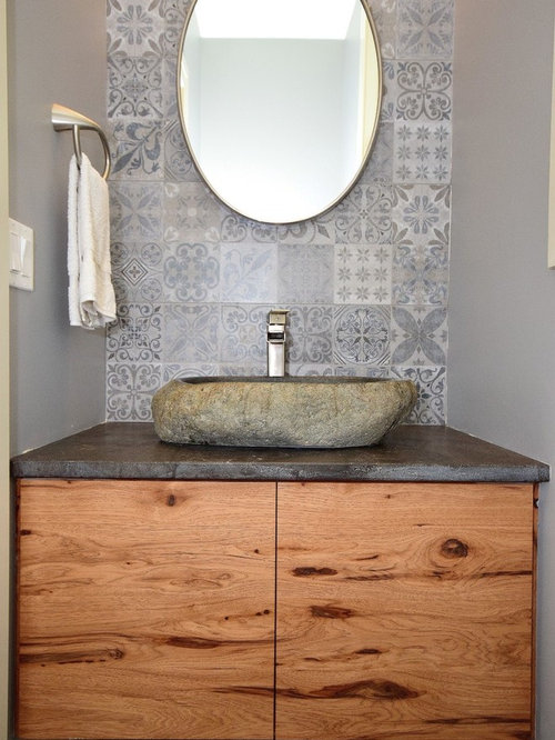 75 Cloakroom with Soapstone Worktops and Grey Walls Ideas: Explore on polished soapstone, dorado soapstone, mariana soapstone,