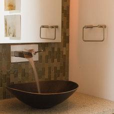 Contemporary Powder Room by Ryan Rhodes Designs, Inc.