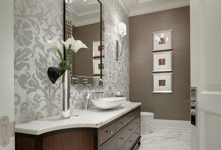 Uttermost Bathroom Sconces uttermost 22493 vanalen 1-light chrome wall sconce - transitional
