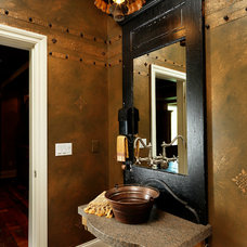 Eclectic Powder Room by Albrecht Wood Interiors