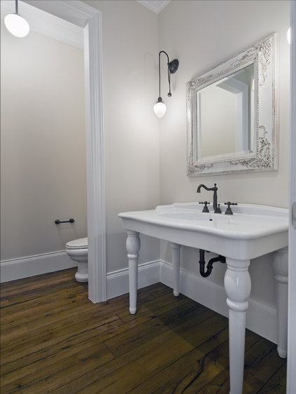 Traditional Powder Room by Reclaimed DesignWorks