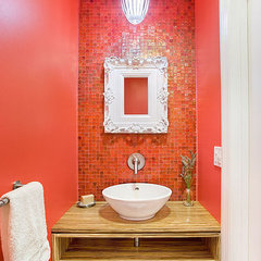 contemporary powder room by Re:modern Design
