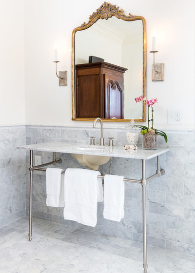 Farmhouse Powder Room by Lovette Design+Build