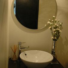 Modern Powder Room by IN RESIDENCE DESIGN