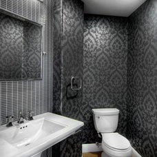 Transitional Powder Room by Design Matters