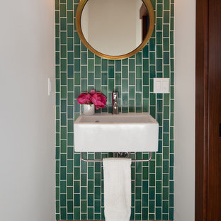Eclectic powder room photo in San Francisco