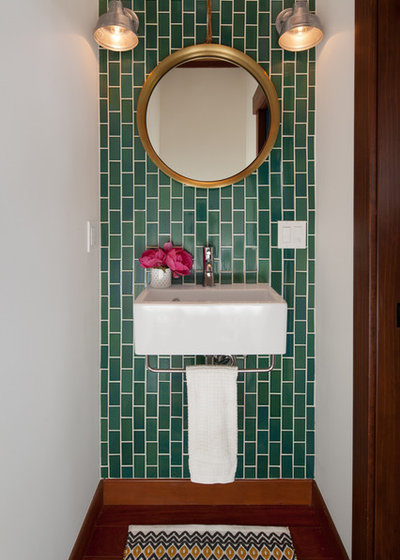 Eclectic Powder Room by Yellow House