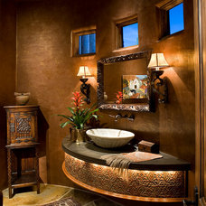 Eclectic Powder Room by Rondi - the art of space