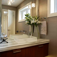 Contemporary Powder Room by Regina Sturrock Design Inc.