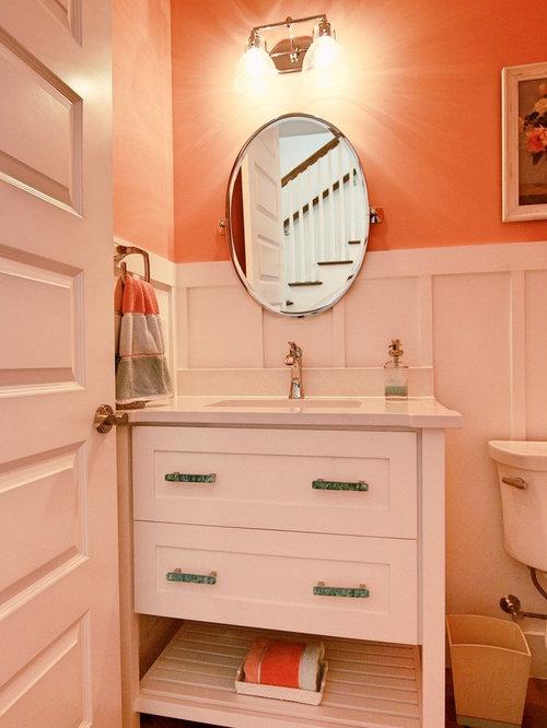 Maritime g stetoilette g ste wc mit oranger wandfarbe - Lemongrass custom home design inc ...