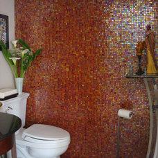 Eclectic Powder Room Remodel - Mount Olumpus - Los Angeles