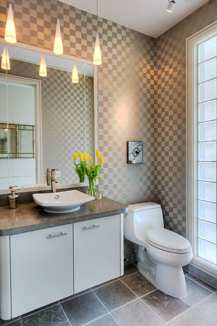 Eclectic Powder Room by RD Architecture, LLC