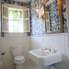 Traditional Powder Room by Catherine Smith Architect