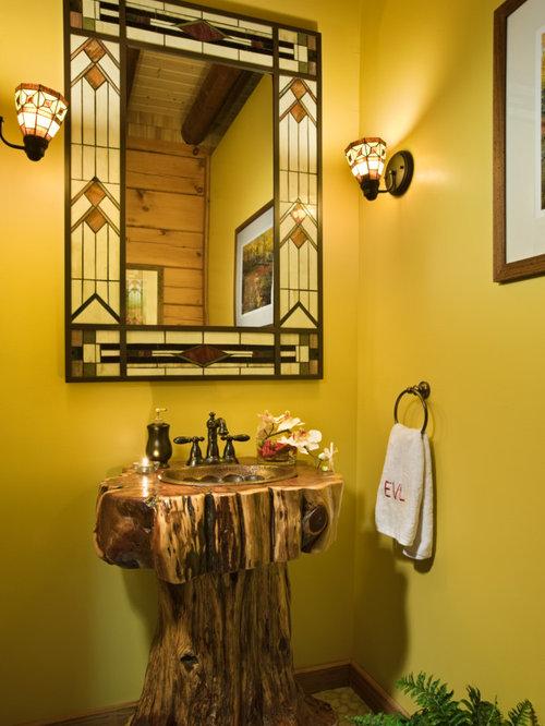 Our 50 Best Rustic Pebble Tile Floor Powder Room Ideas & Decoration ...