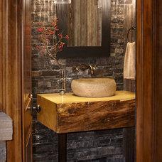 Rustic Bathroom by Greenauer Design Group