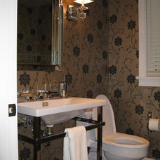 Eclectic Powder Room by Sprucehill Contracting