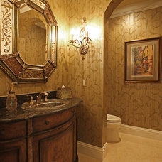 Contemporary Powder Room by Dreamstar Custom Homes