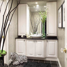 Traditional Powder Room by Tamra Rubin Design