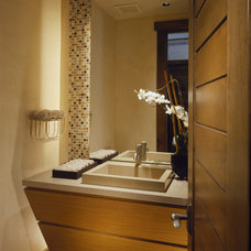 Contemporary Powder Room by Charles Cunniffe Architects Aspen