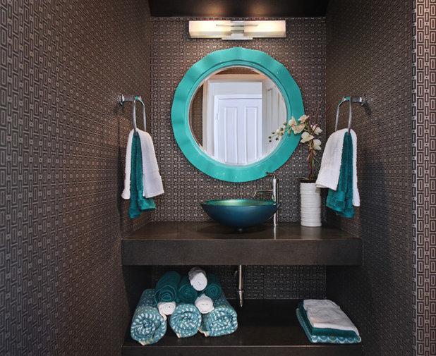 Transitional Powder Room by 27 Diamonds Interior Design