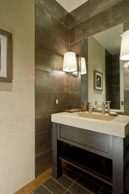 Contemporary Powder Room by Randall Whitehead Lighting Solutions