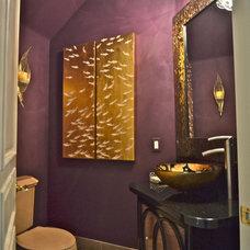 Contemporary Powder Room by Paddiwacks Inc