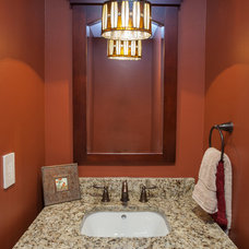 Craftsman Powder Room by Xtreme Painting & Remodeling, LLC