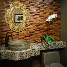 Contemporary Powder Room by Creative Design Construction, Inc.