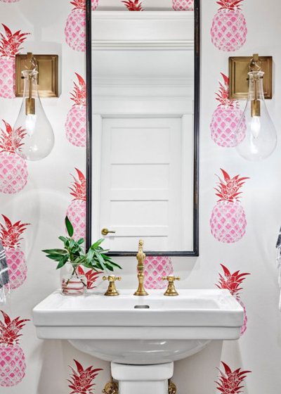 Beach Style Powder Room by McKeithan Design Studio, LLC