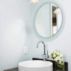 Contemporary Powder Room by XTC Design Incorporated