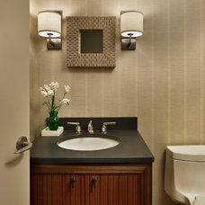 Contemporary Powder Room by Shay Construction, Inc.