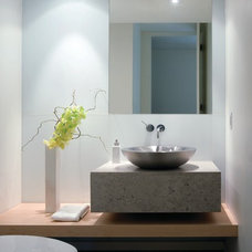 Contemporary Powder Room by Everitt Design