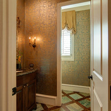 Traditional Powder Room by Glendarroch Homes