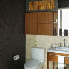 Contemporary Powder Room by Thom Filicia Inc.