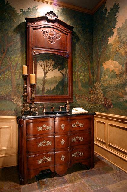 Mediterranean Powder Room by RJ Aldriedge Companies Inc