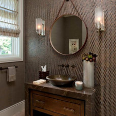 Contemporary Powder Room by House of Amelia