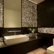 Contemporary Powder Room by Horst Architects