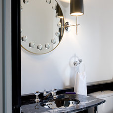 Transitional Powder Room by LDa Architecture & Interiors