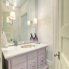 Transitional Powder Room by Rockwood Custom Homes