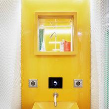 bloques de color en el baño